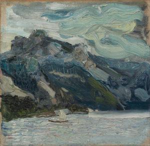 Richard_Gerstl_-_Lake_Traun_with_Mountain_Sleeping_Greek_Woman_-_Google_Art_Project